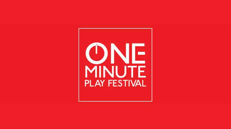 One-Minute Play Festival Text Logo with block letters